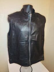 3950 Lambskin Leather Vest Nwot Super Rare Very Soft Size Large Make An Offer
