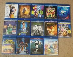 Snow White Seven Dwarfs Toy Beast Monsters Out Dory Frog Sing Blu-ray Dvd 14 Lot