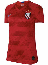 Nike Us Usa National Team 2019 Red Stadium S/s Away Soccer Jersey New Womens M