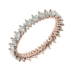 1.50carat Princess And Round Cut Diamond Full Eternity Ring In 18k Rose Gold