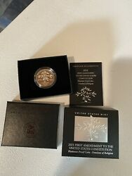 2021 W Platinum Proof Coin 1ounce First Amendment Freedom Of Religion 15k Minted