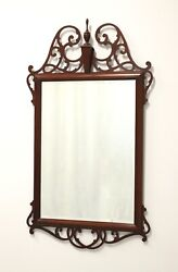Large Carved Mahogany Chippendale Mirror
