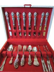 Northumbria Sterling Silver Luncheon Set For 8 Plus 2 Serving Pieces - Cello