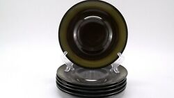 Mikasa Majorca Terrazo 7502 Saucer Plates Only Dishes 6 5/8 Inches Lot Of 6
