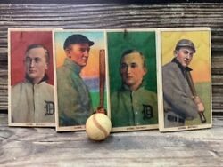 Set Of 4 - 12 Inch Tall T206 Ty Cobb Wooden Baseball Cards Sports Room Decor