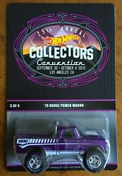 2015 Rlc Hot Wheels 29th Collectors Conv. And03970 Dodge Power Wagon 405/2000 Low