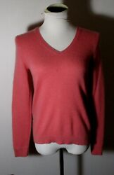 Womenand039s Ann Taylor Petite Pink 100 Cashmere Sweater Size Lp