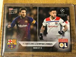 2018 Topps Now Uefa Champions League R5 Lionel Messi Fc Barcelona