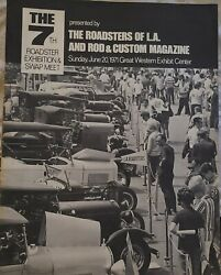 1971 7th Annual L.a. Roadster Rod And Custom Official Program 32 Ford