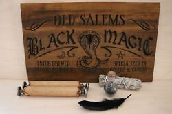 Wiccan Black Magic Salem Sign - Hand Crafted