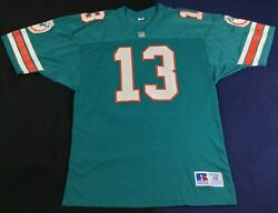 Vintage 90's Miami Dolphins Dan Marino 13 Football-nfl Russell Jersey Size48