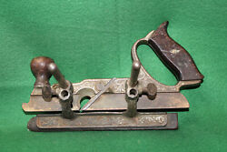 Stanley No 46 Traut's Skew Combination Plow And Fillester Plane Pat'd '73 Invhc28