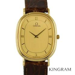 Omega Antique Exterior Finished Battery Replaced Quartz Menand039s Watch [u0316]