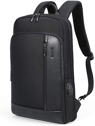 Leather Computer Backpacks For Laptops Anti Theft Business Travel Backpack $64.99