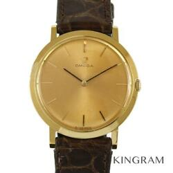 Omega Antique Cal.620 Solid Gold Exterior Finished Hand-wound Menand039s Watch U0316