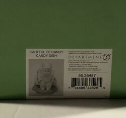 1 Dept 56 Snowbunnies Easter/spring 26487 Cartful Of Candy - Candy Dish