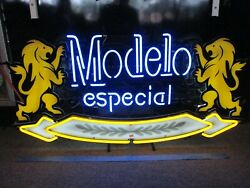 Modelo Especial Neon Light Sign 42x20 Pick Up Only No Shipping