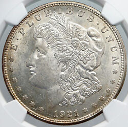 1921 D United States Of America Silver Morgan Us Dollar Coin Eagle Ngc I89187