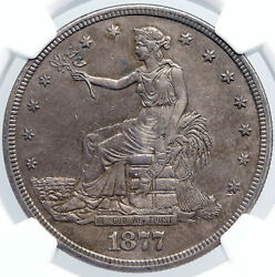 1877 S United States Of America Us Silver Trade Dollar Coin For China Ngc I89186