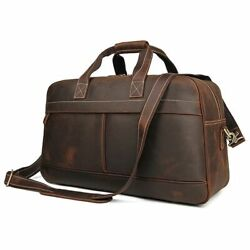 Vintage Hand Travel Bag Men Leather Weekend Overnight Business Duffle Luggage