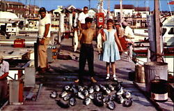 Cape May New Jersey Fishing Is Good Fish Coca Cola Cooler Gas Pumps 1950s