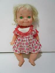 Vintage 1970 Ideal Me So Silly Collapse Motion String Doll Push-in Belly Button