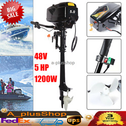 48v 1200w Electric Outboard Motor Fishing Boat Engine 3000rpm 18a 18 Km /h