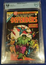 Defenders Annual 1 1976 Dr.strange/hulk Cbcs 9.8 White Pages Not Cgc