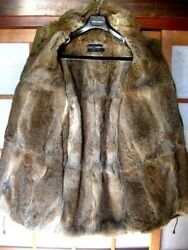 Used Dolce And Gabbana Mod Fur Coat Extremely Warm Mens M Size Very Rare