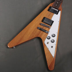 Electric Guitar Gibson Flying V Antique Natural Mahogany Neck Fret 80 Used