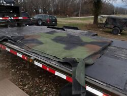 Military Surplus Roof Cover Soft Top Camo 4 Man Truck Trailer M998 Hmmwv Army