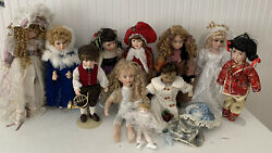 Vintage Doll Lot With Accessories Shoes Dresses Hats Glasses Boy Girl