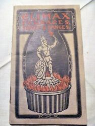 Antique Climax Furnaces Stoves Ranges Booklet 70 Pages Early 1900's