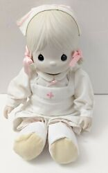 Nurse Precious Moments Angie The Angel Of Mercy Le Porcelain Bisque Doll Mint