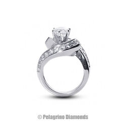 2 1/2ct F Si1 Round Natural Certified Diamonds 14kw Gold Classic Side-stone Ring