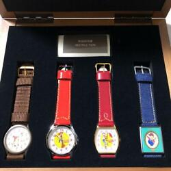 Toy Story 2 Limited Edition Wristwatch Lot Of 4 Set With Wooden Box Unused Rare