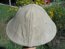 American / British Wwi To Wwii Brodie Helmet Sand Color Cover - Period Camo