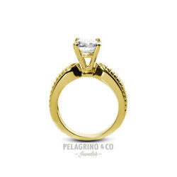 1ct F Si1 Round Natural Diamond 14ky Gold Vintage Solitaire Engagement Ring