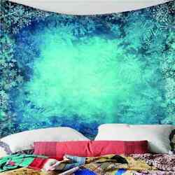Beautiful Blue Snowflakes 3d Wall Hang Cloth Tapestry Fabric Decorations Decor