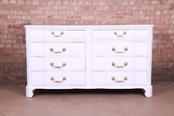 John Widdicomb French Provincial White Lacquered Eight-drawer Dresser