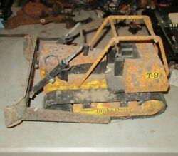 1970and039s Large Mighty Tonka T9 Dozer Bulldozer Original For Parts Or Restoration