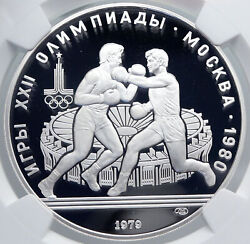 1979 Moscow 1980 Summer Olympics Boxing Proof Silver 10 Ruble Coin Ngc I89296