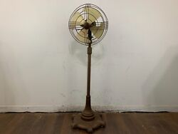 Vintage Art Deco General Electric Vortalex Floor Pedestal Oscilating Fan Fm12m1