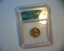 1980 D Lincoln Cent Struck Through A Late Stage Die Cap Nice Us Error Coin