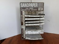 Vintage 3m Company Automotive Sand Paper Advertising Display Rack And Sand Paper