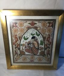 EMBROIDERED VINTAGE TAPESTRY BY SURAYIA RAHMAN BEAUTIFUL ARTISTRY