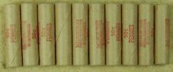 50x Wheat Penny Roll Rolls Cent Lincoln Ends Vary Lot 50c Mixed Date Sf And Denver