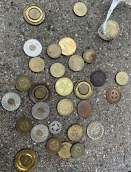 Great Vintage Lot Of Department Of Transportation And Transit Token