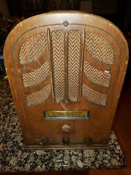 General Electric E61 Vintage Tombstone Tube Tabletop Ge Radio Stereo E-61