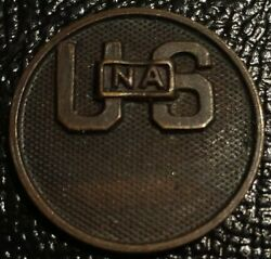 Usna Us National Army Medal Collar Disc Uniface Wwi Type Coin Token World War I